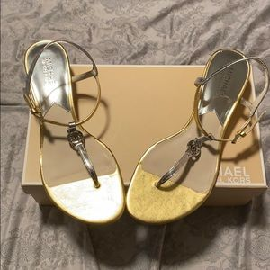 Michael Kors Silver & Gold Wedges